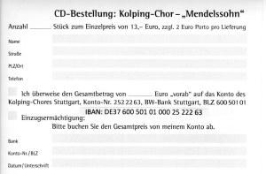 CD-Bestellung